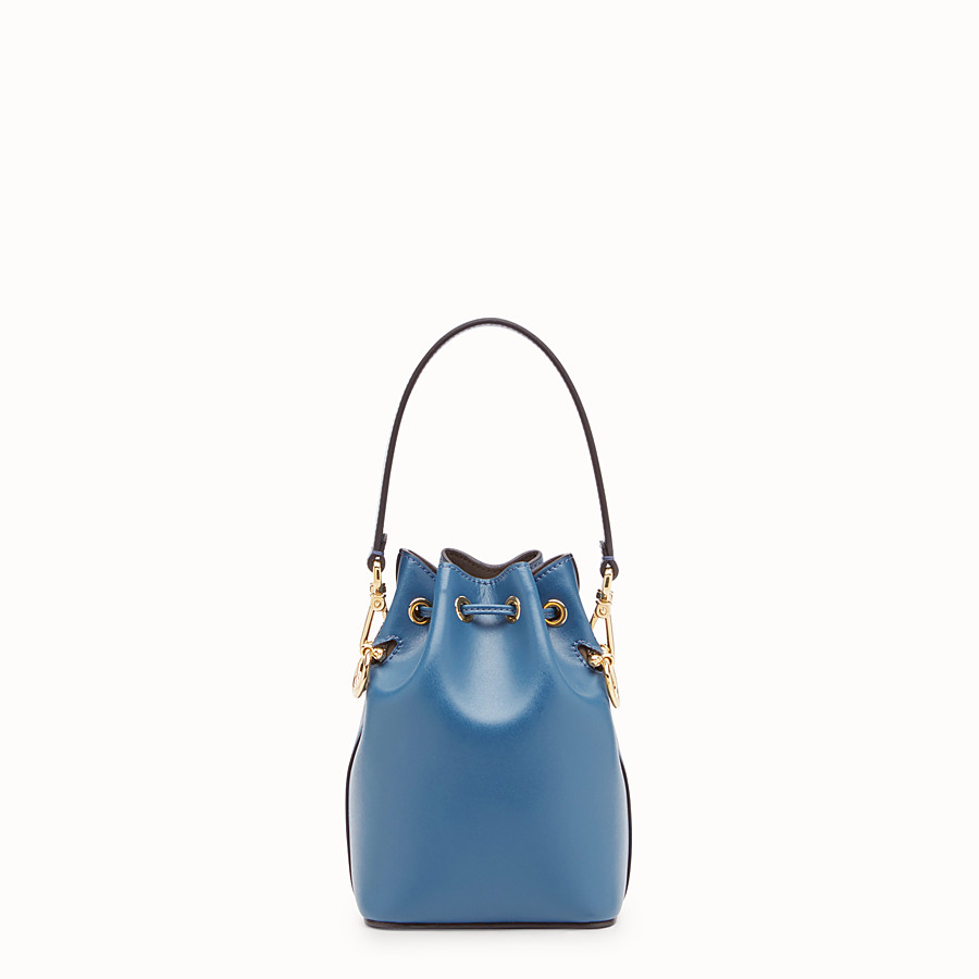 FENDI MON TRESOR - Mini-Tasche aus Leder in Blau - view 3 detail