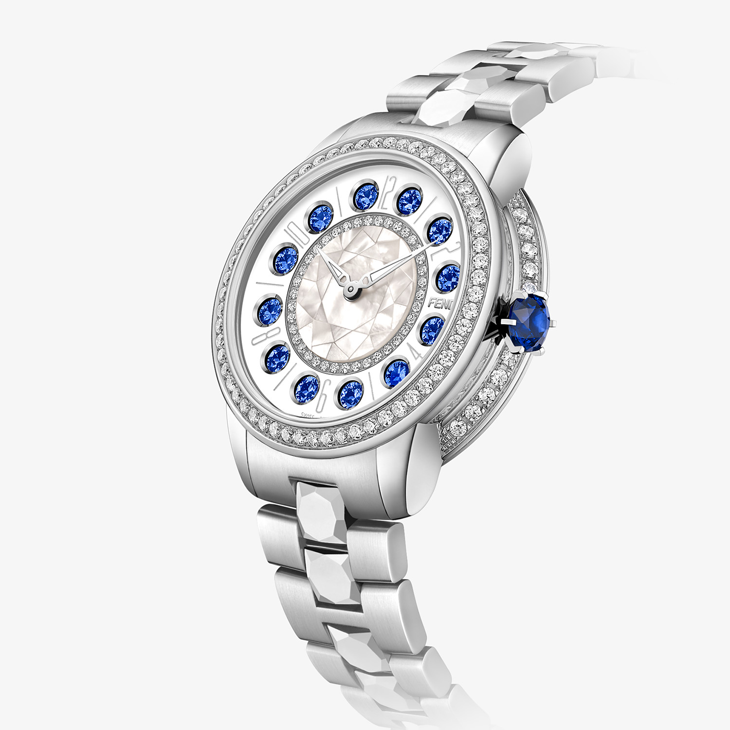 FENDI FENDI ISHINE - 33 MM - Watch with diamonds and rotating precious stones - view 3 detail