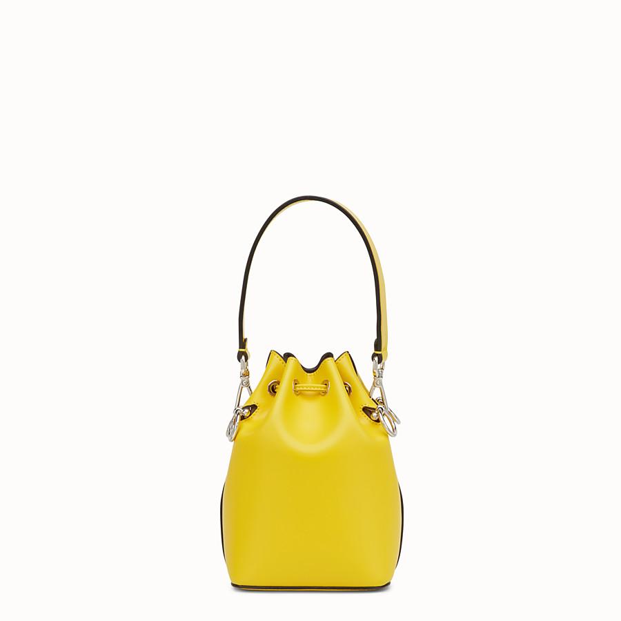 FENDI MON TRESOR - Yellow leather mini-bag - view 3 detail
