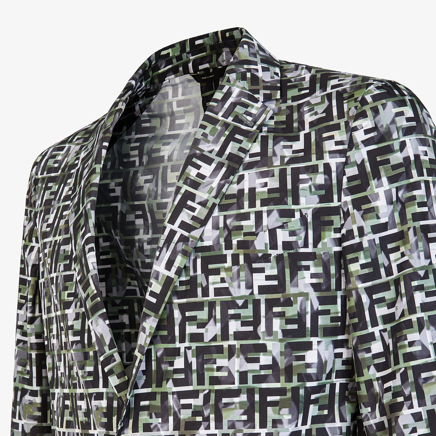 FENDI JACKET - Multicolor nylon blazer - view 4 detail