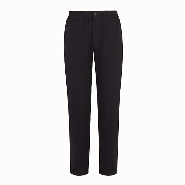 FENDI JOGGING TROUSERS - Black cotton trousers - view 1 small thumbnail