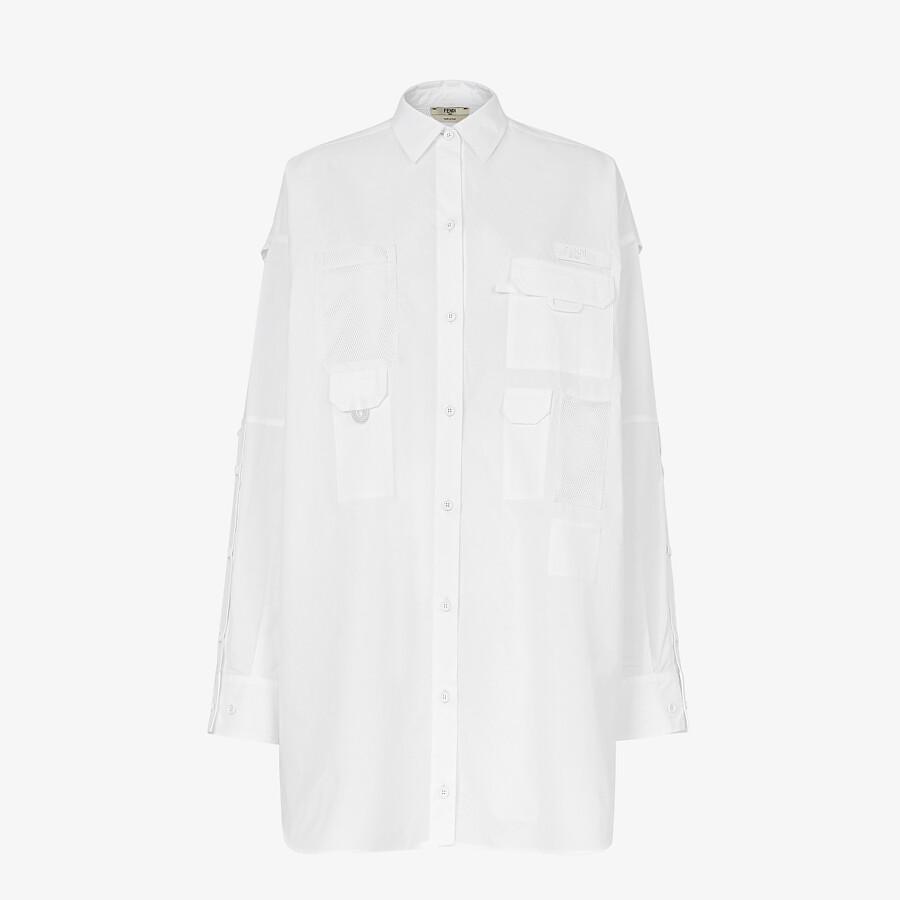 FENDI ドレス - ホワイトポプリン ドレス - view 1 detail
