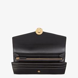 FENDI LANGES PORTEMONNAIE - Portemonnaie aus schwarzem Leder - view 4 thumbnail