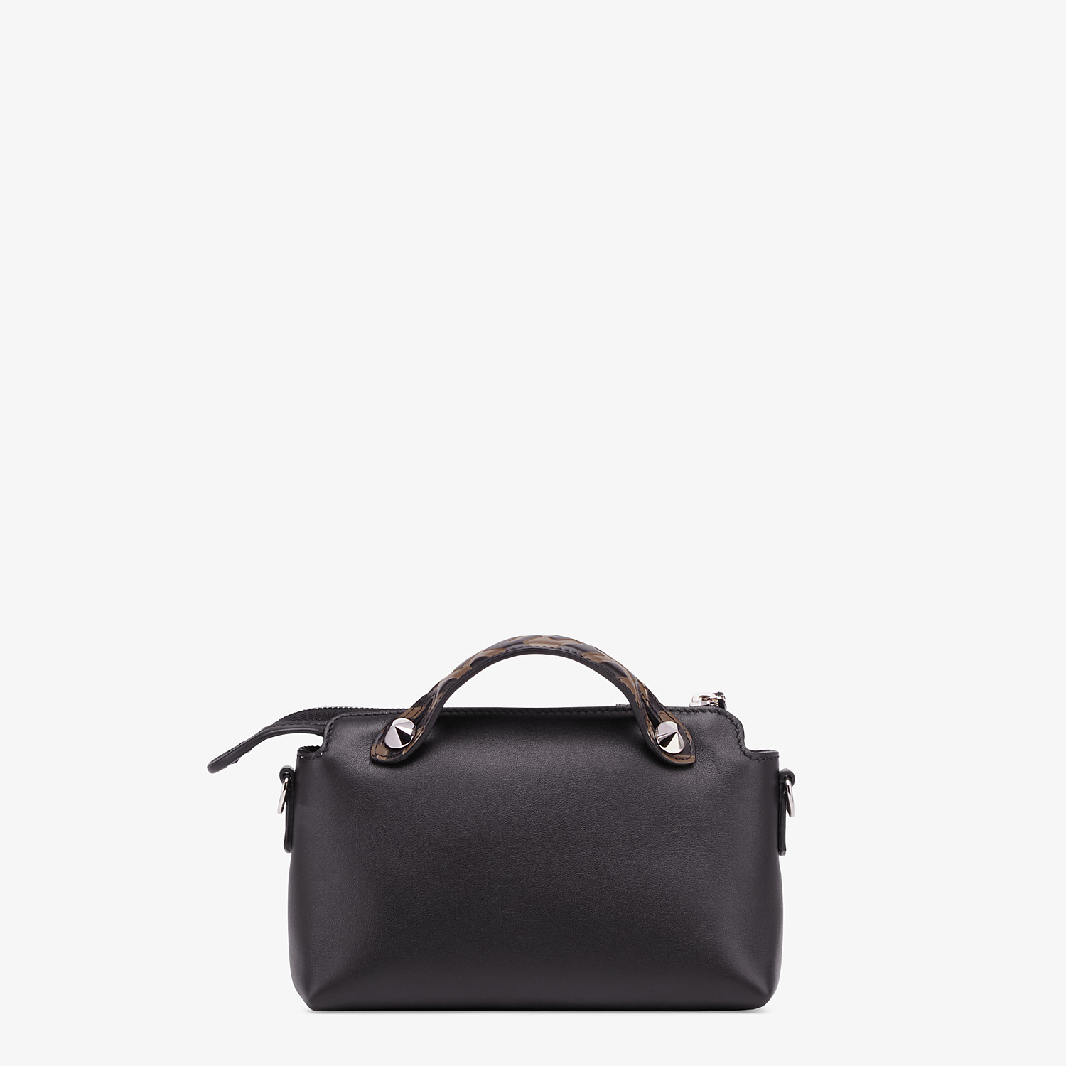FENDI BY THE WAY MINI - Small black leather Boston bag - view 4 detail