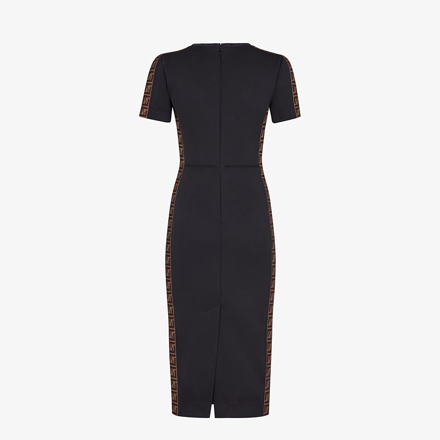 FENDI DRESS - Black piqué dress - view 2 detail