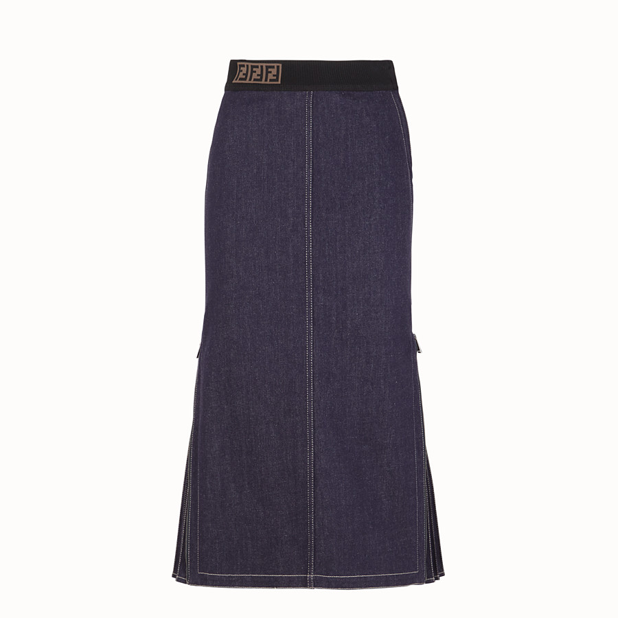 FENDI SKIRT - Blue denim skirt - view 1 detail