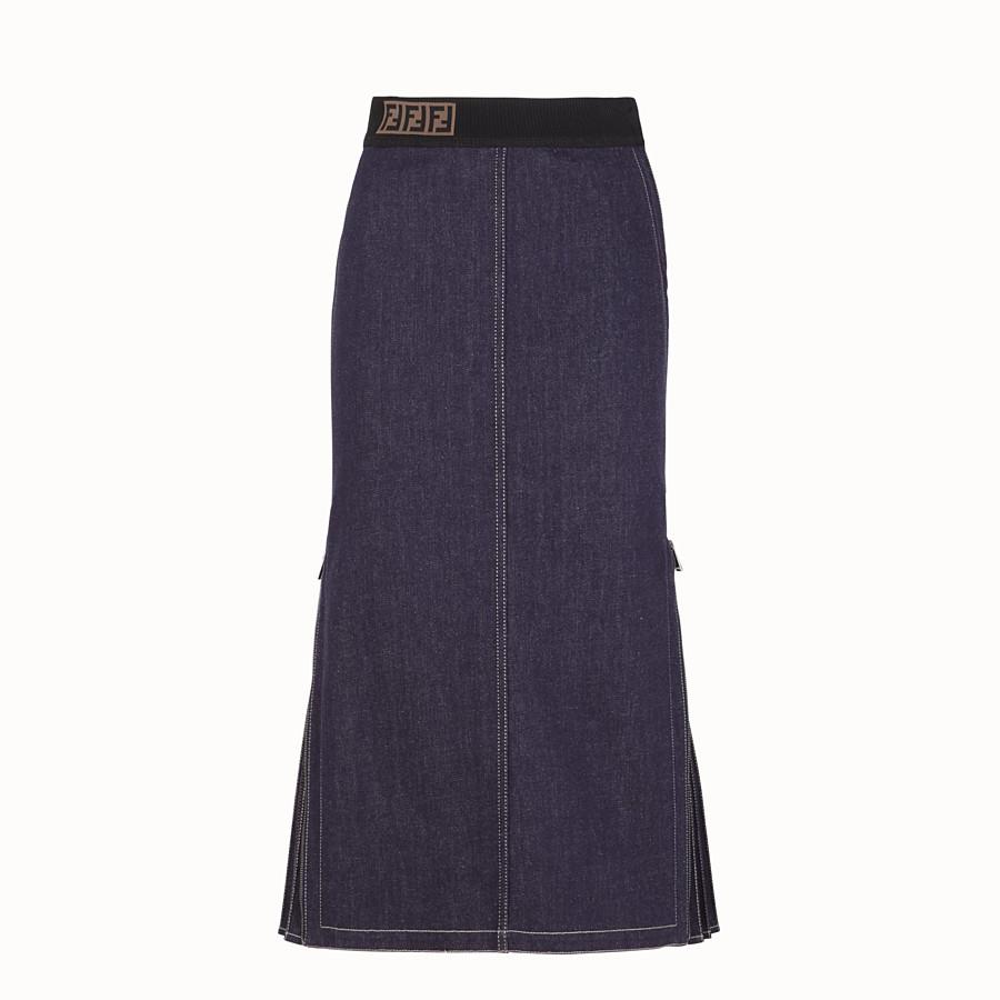 FENDI SKIRT - Blue denim skirt - view 1 detail