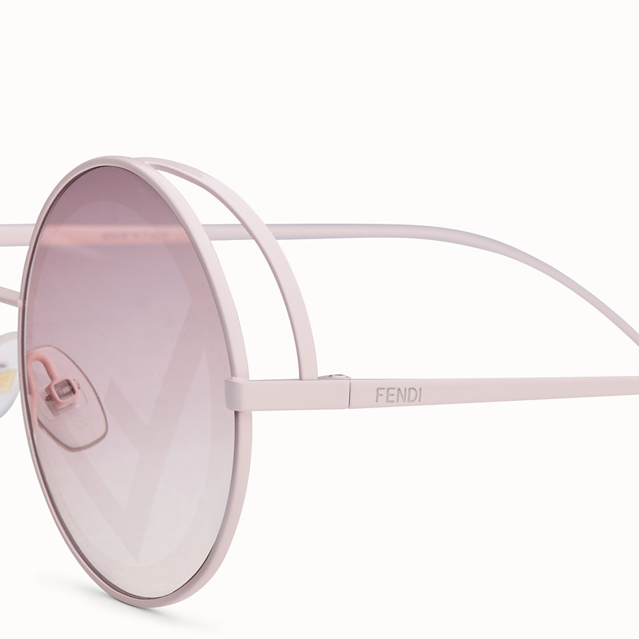 FENDI FENDIRAMA - Pink sunglasses - view 3 detail