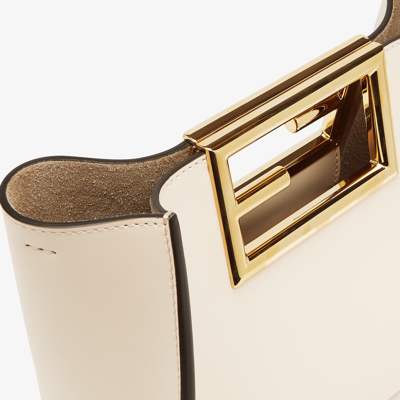 FENDI FENDI WAY SMALL - White leather bag - view 5 detail