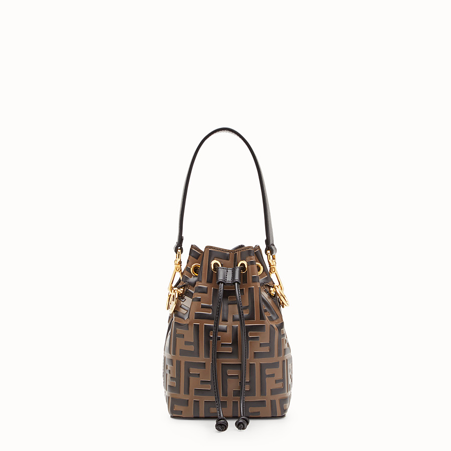 FENDI MON TRESOR - Brown leather mini-bag - view 1 detail