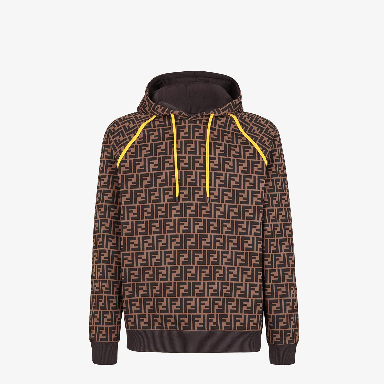 FENDI SWEATSHIRT - Brown cotton sweatshirt - view 1 detail