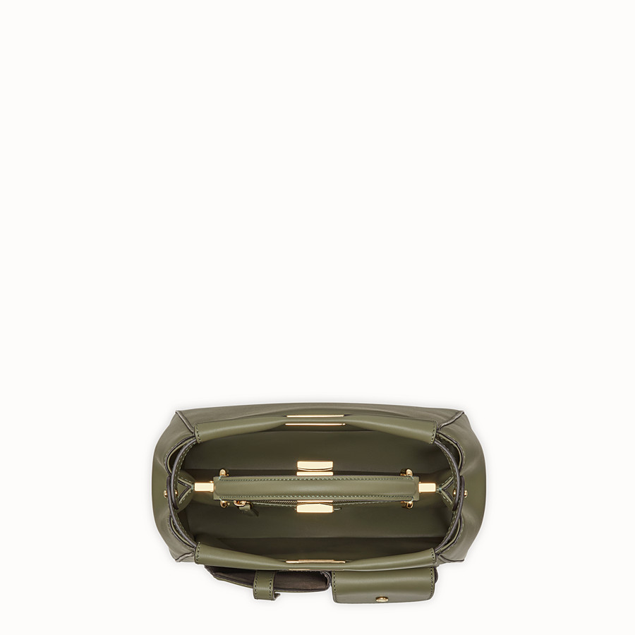 FENDI PEEKABOO MINI POCKET - Green leather bag - view 4 detail