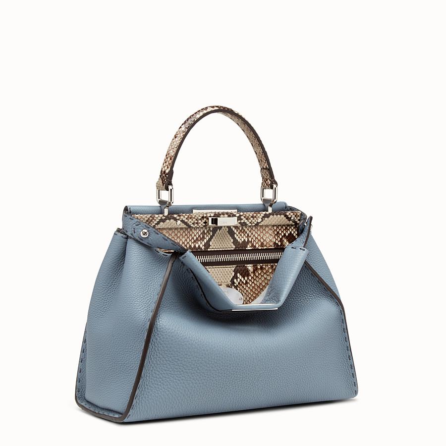 FENDI PEEKABOO REGULAR - Leather and python Selleria handbag - view 2 detail