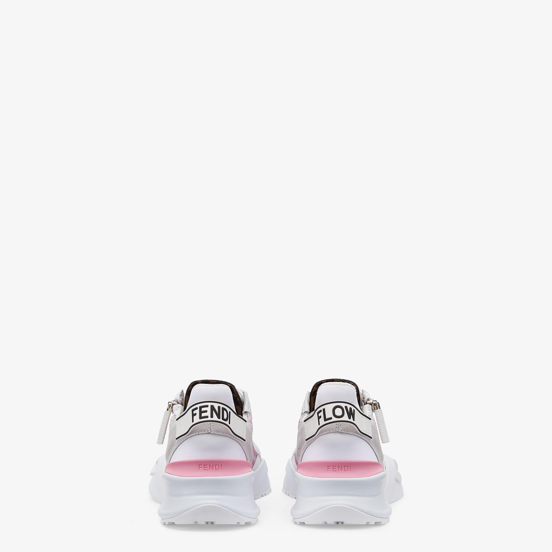 FENDI FENDI FLOW - Pink nylon low tops - view 3 detail