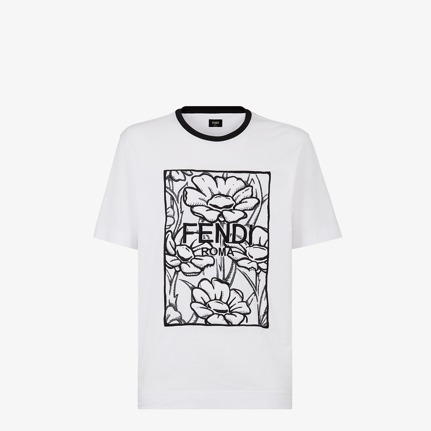 FENDI T-SHIRT - Fendi Roma Joshua Vides cotton T-shirt - view 1 detail