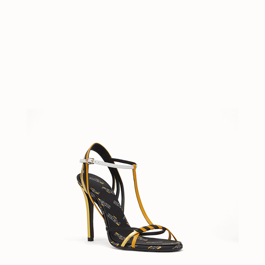 FENDI SANDALS - Multicoloured leather sandals - view 2 detail