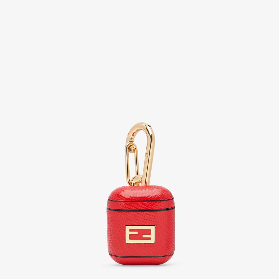 FENDI HEADPHONE HOLDER - Headphone holder in red karung - view 1 detail