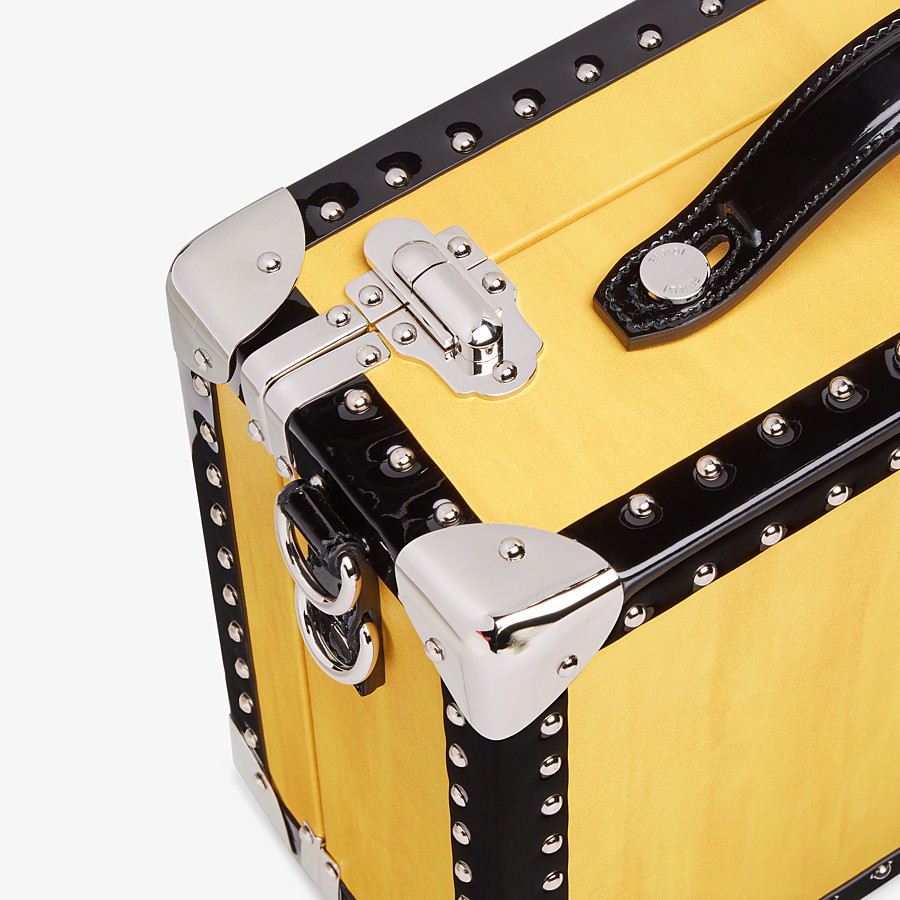 FENDI TRAVEL BAG SMALL - Yellow leather suitcase - view 5 detail