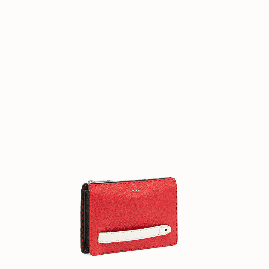 FENDI CLUTCH - Multicolour leather pochette - view 2 detail