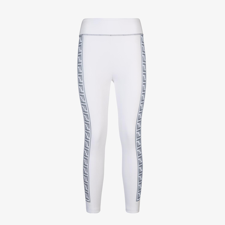 FENDI LEGGINGS - White stretch fabric leggings - view 1 detail