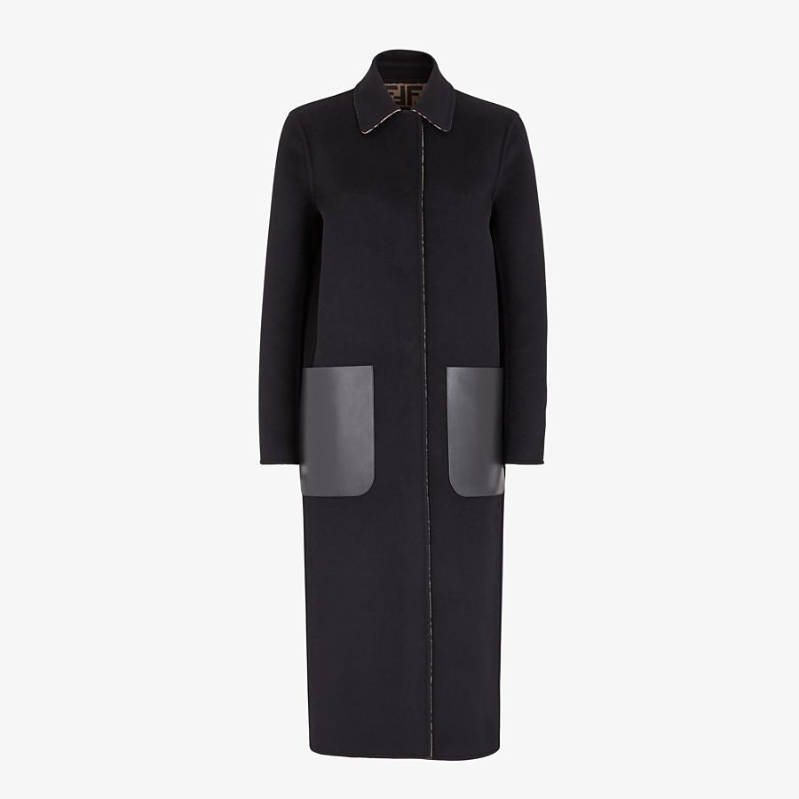FENDI CAPPOTTO - Cappotto in lana nera - vista 1 dettaglio