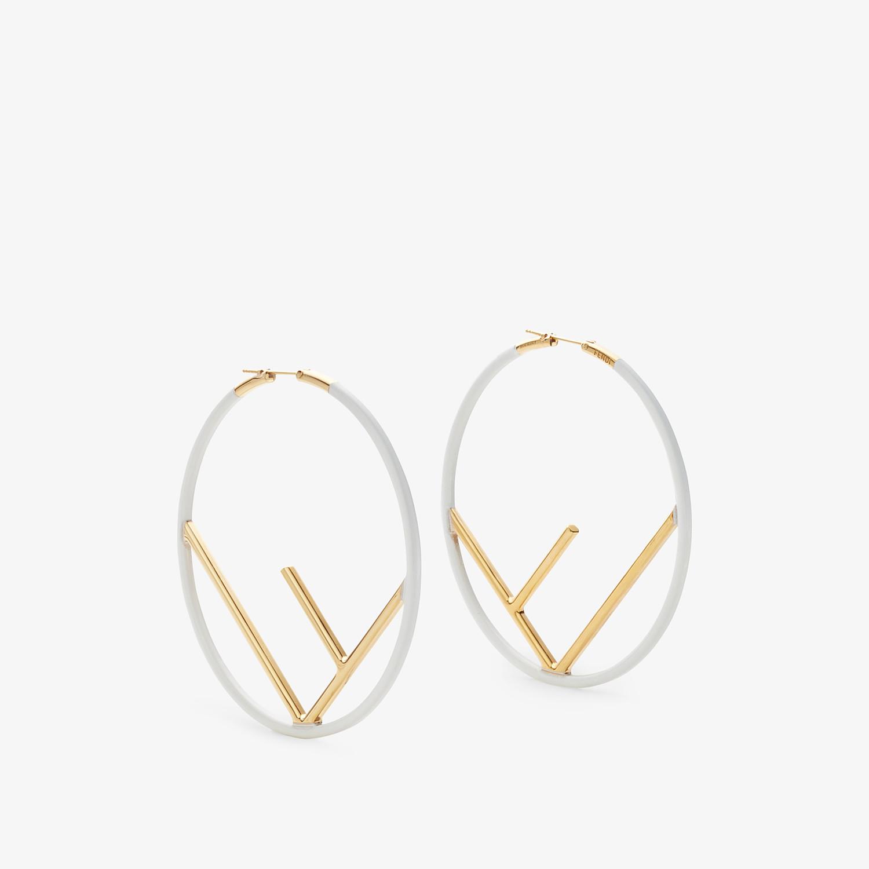 FENDI F IS FENDI EARRINGS - Gold and white coloured earrings - view 1 detail