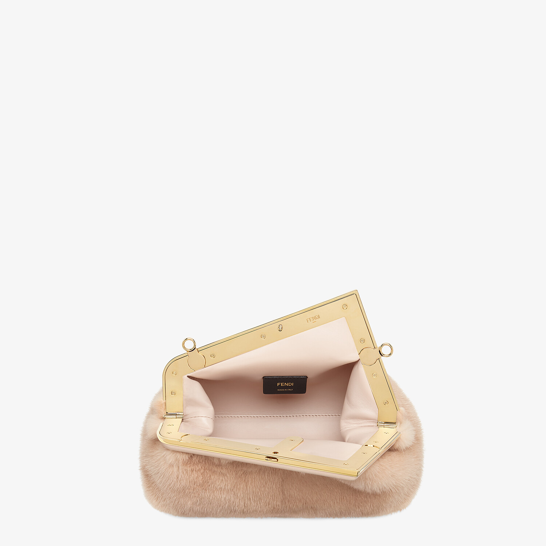 FENDI FENDI FIRST SMALL - Pink mink bag - view 4 detail