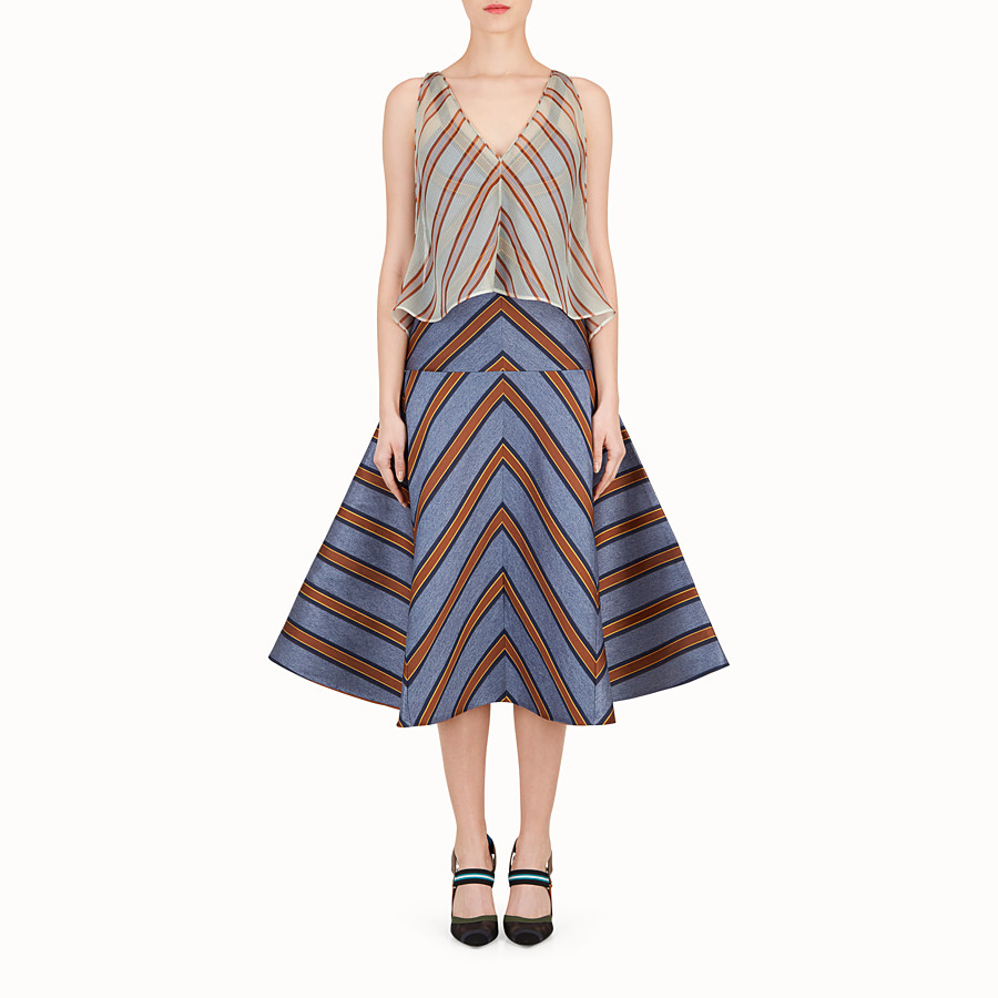 FENDI DRESS - Multicolour silk and jacquard dress - view 1 detail