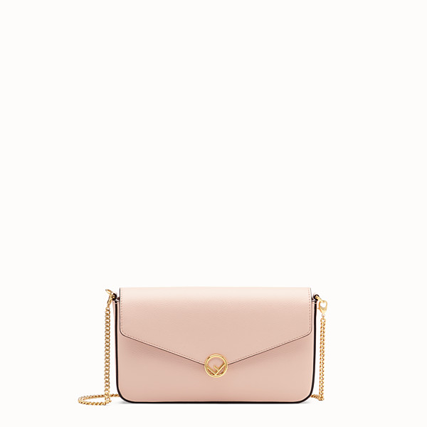 FENDI WALLET ON CHAIN WITH POUCHES - Pink leather minibag - view 1 small thumbnail