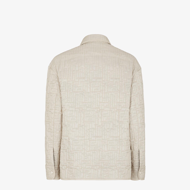 FENDI BLOUSON JACKET - White nylon jacket - view 2 detail
