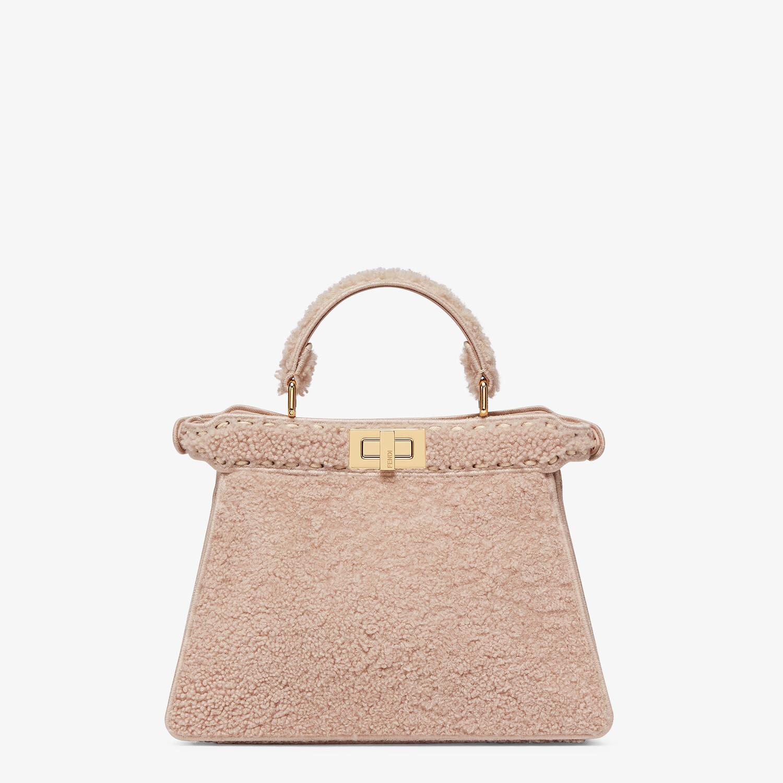 FENDI PEEKABOO ISEEU SMALL - Pink sheepskin bag - view 4 detail