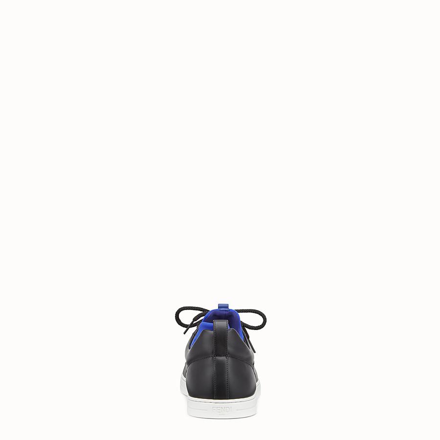 FENDI SNEAKERS - Black leather sneakers - view 3 detail