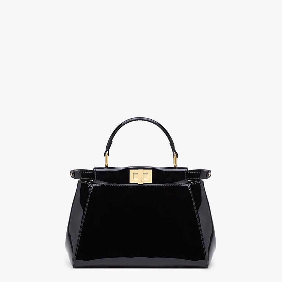 FENDI PEEKABOO ICONIC MINI - Black patent leather bag - view 1 detail