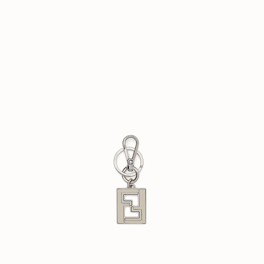 FENDI KEY RING - White metal key ring - view 1 detail