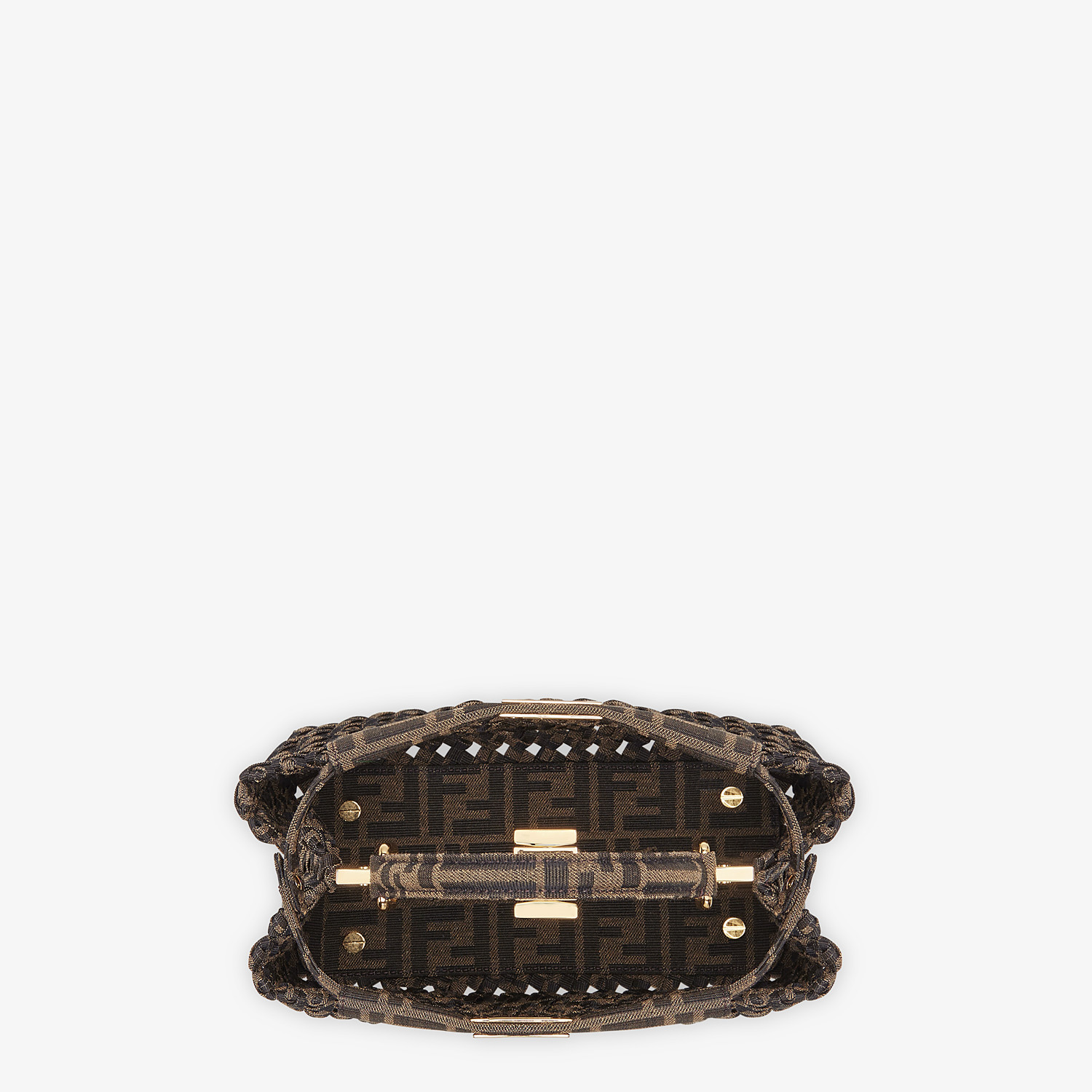 FENDI PEEKABOO ICONIC MINI - Jacquard fabric interlace bag - view 5 detail