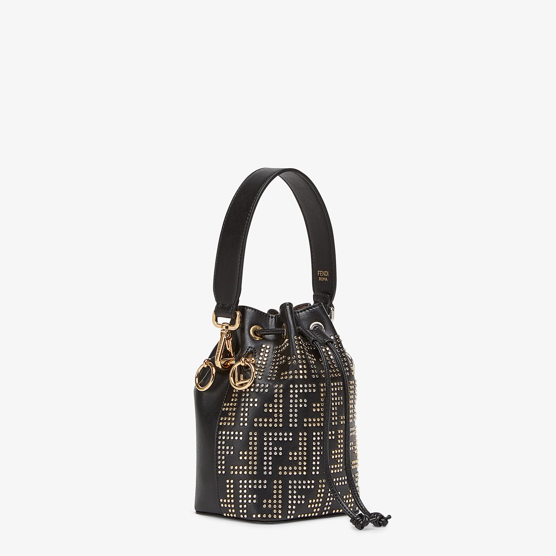 FENDI MON TRESOR - Black leather mini-bag - view 2 detail