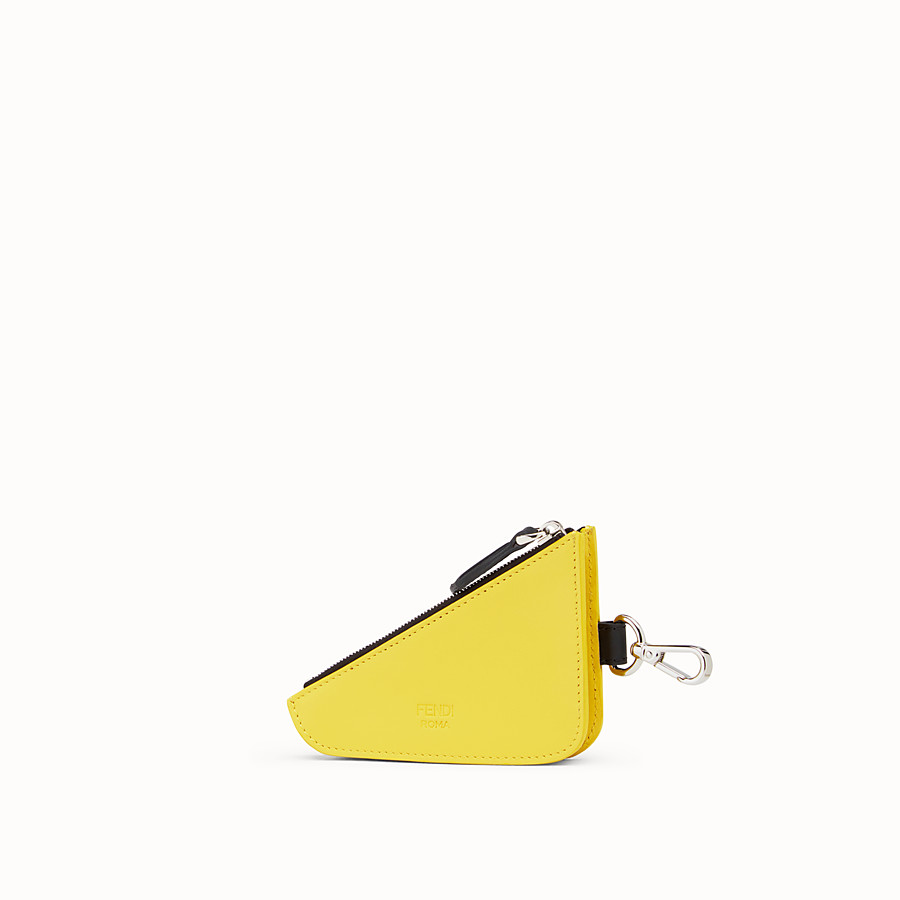 FENDI CLUTCH - Yellow leather coin purse - view 2 detail