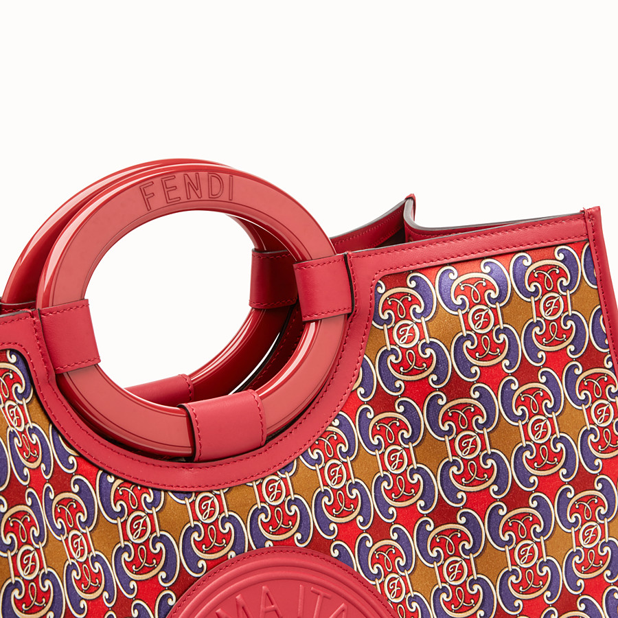 FENDI RUNAWAY SHOPPER - Multicolour satin shopper - view 5 detail