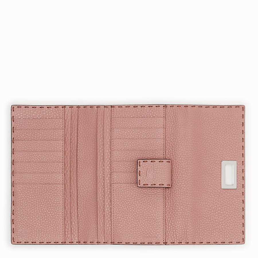 FENDI CONTINENTAL - Pink leather wallet - view 5 detail