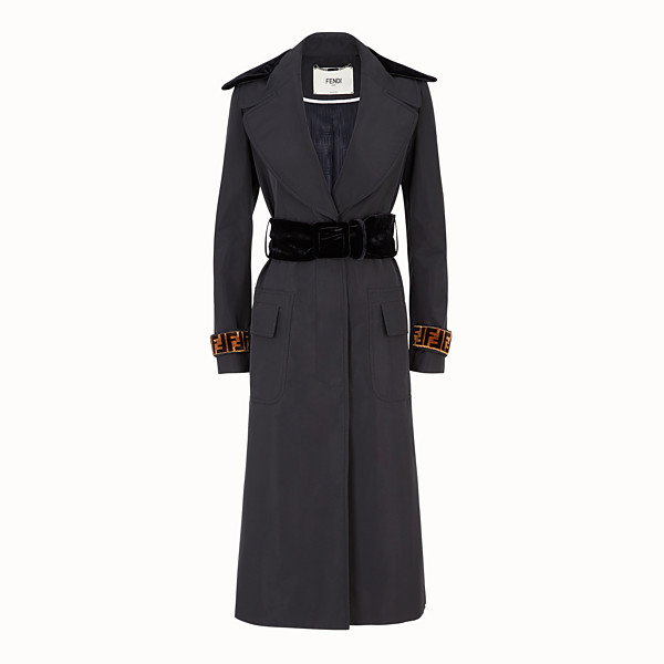 FENDI COAT - Black fabric trench coat - view 1 small thumbnail