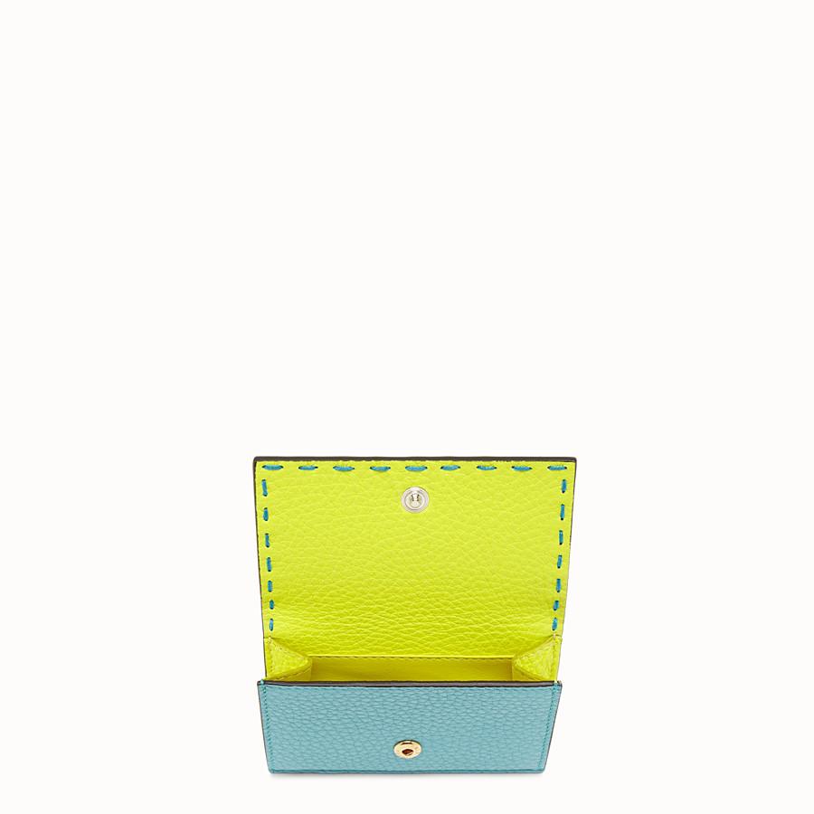 FENDI MICRO TRIFOLD - Fendi Roma Amor leather wallet - view 3 detail