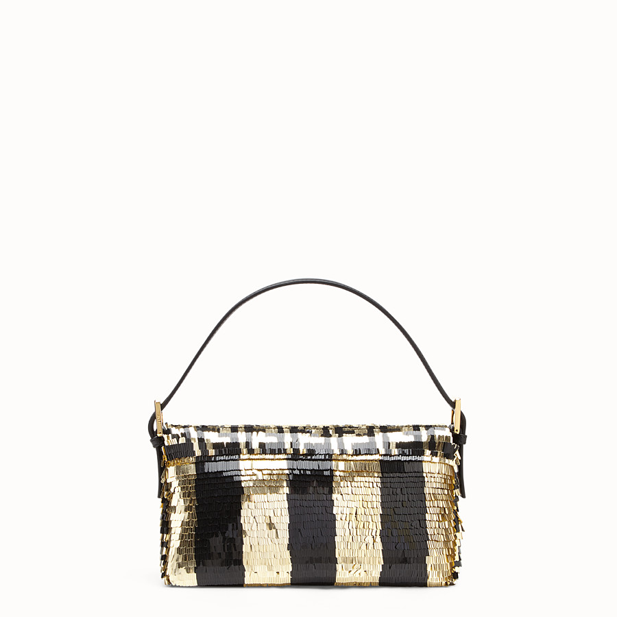 FENDI BAGUETTE - Bag with black and gold sequins - view 3 detail