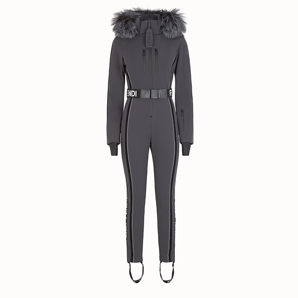 FENDI JUMPSUIT - Black tech fabric jumpsuit - view 1 small thumbnail