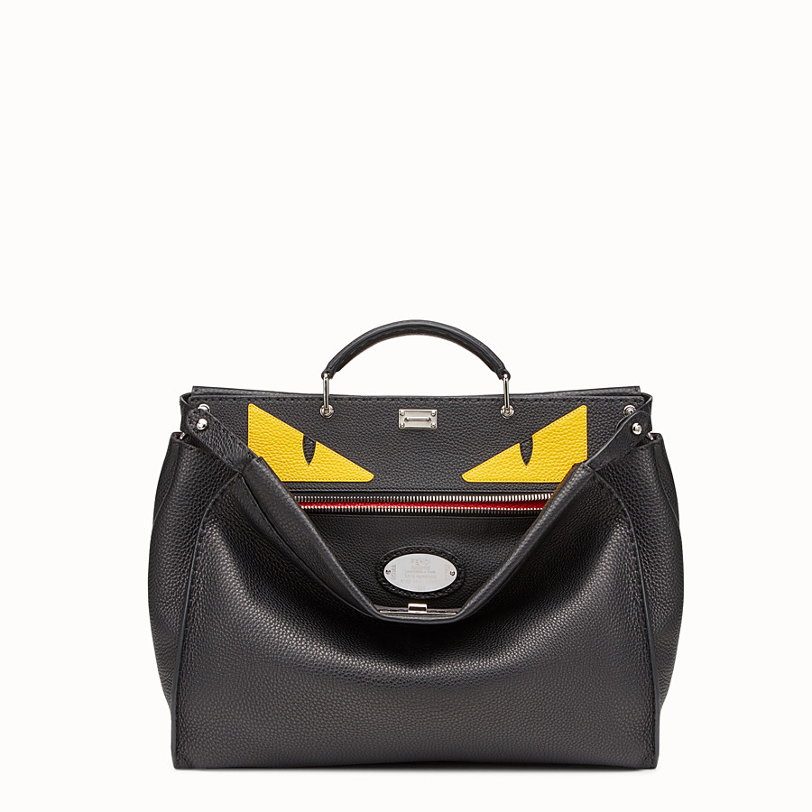 FENDI PEEKABOO MEDIUM - Black leather backpack - view 1 detail