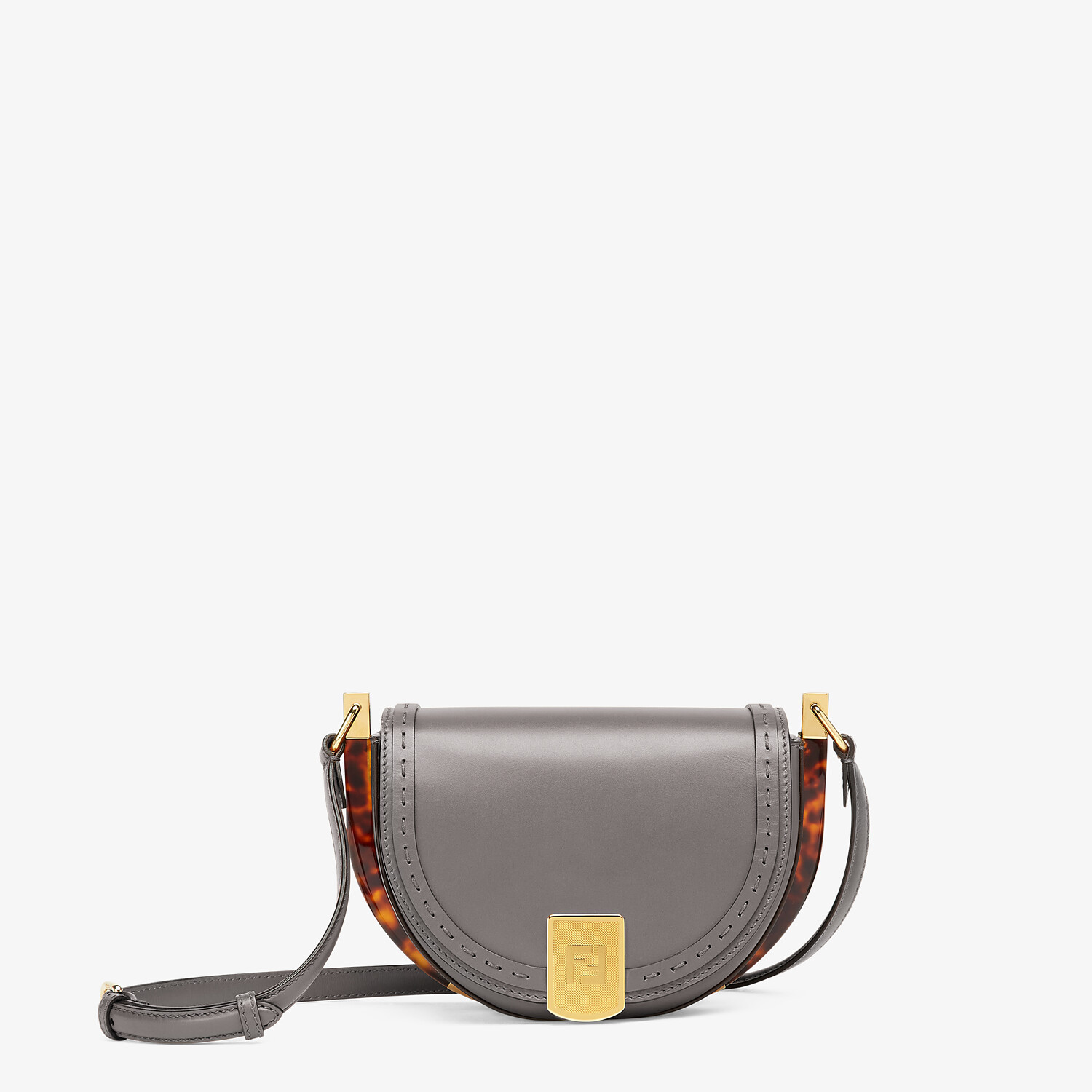 FENDI MOONLIGHT - Gray leather bag - view 1 detail