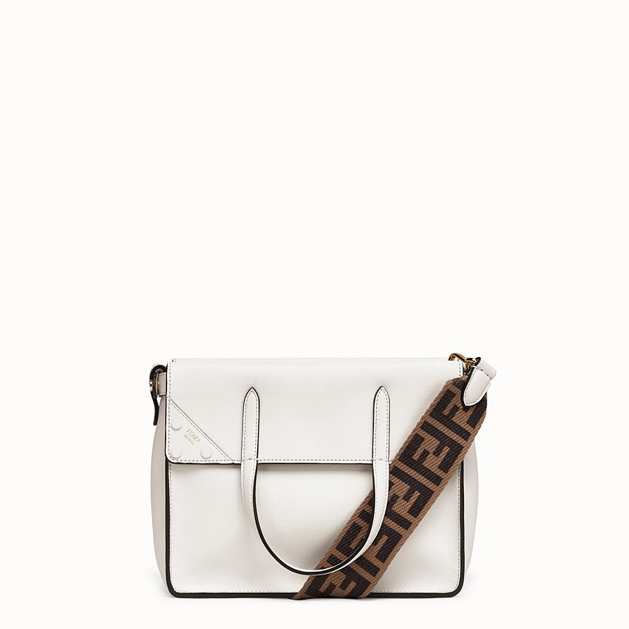 FENDI FENDI FLIP REGULAR - White leather bag - view 1 detail