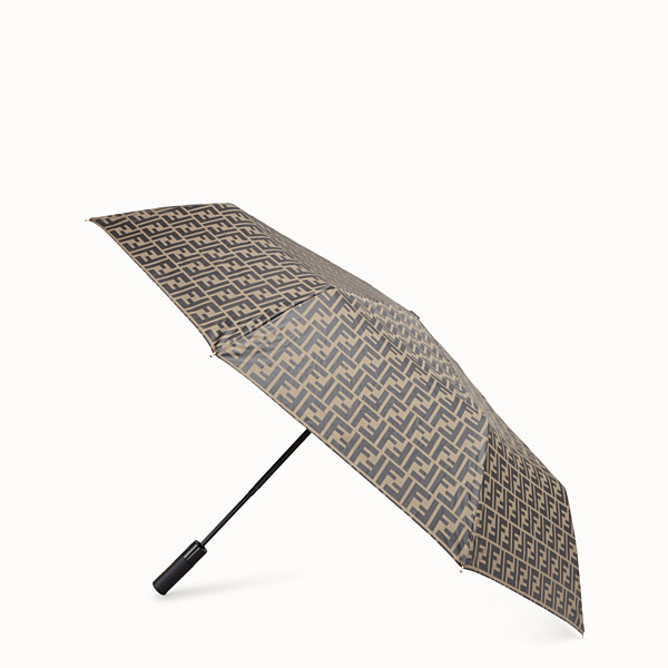 FENDI UMBRELLA - Brown tech fabric umbrella - view 1 small thumbnail