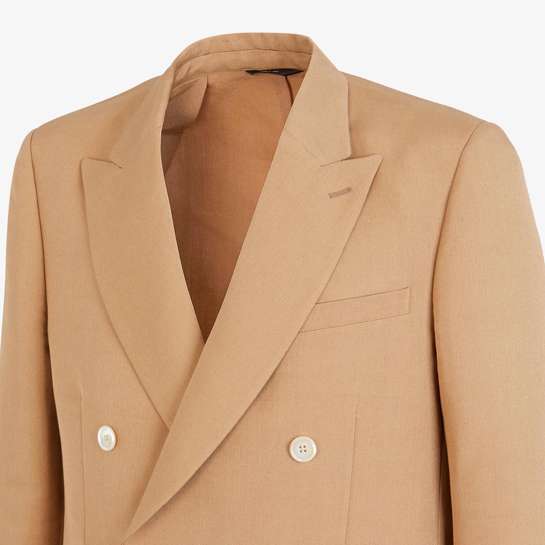 FENDI JACKET - Blazer in brown silk - view 4 detail