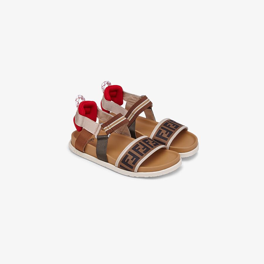 FENDI SANDALS - Fabric unisex junior sandals - view 2 detail