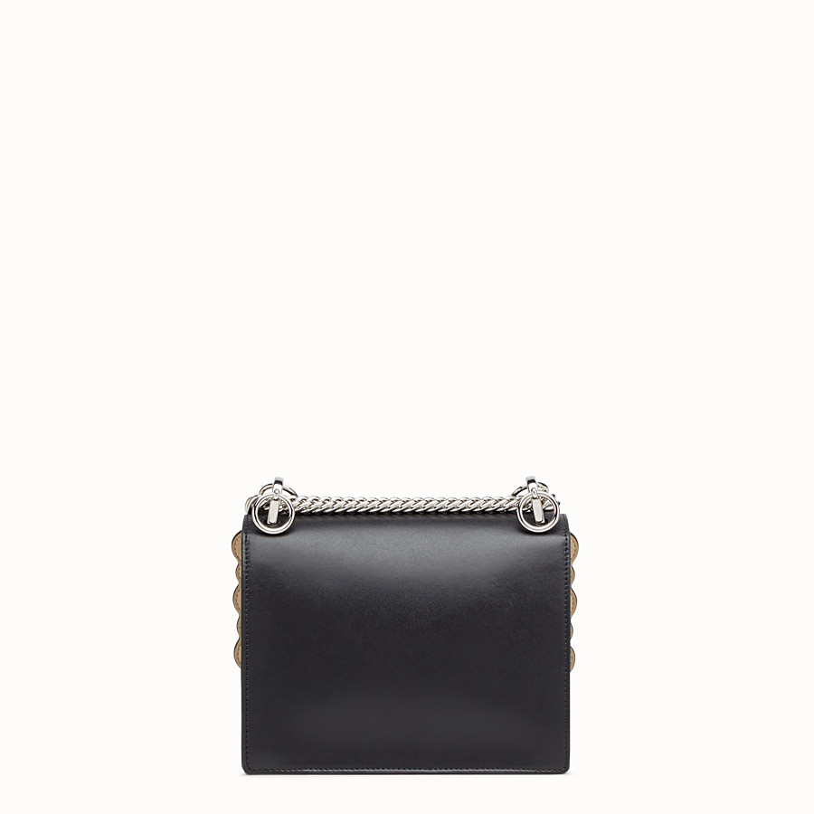 FENDI KAN I SMALL - Black leather mini-bag - view 3 detail
